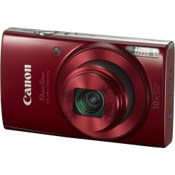 Canon PowerShot ELPH 190 Digital Camera w/ 10x Optical Zoom and Image Stabilization (Red)