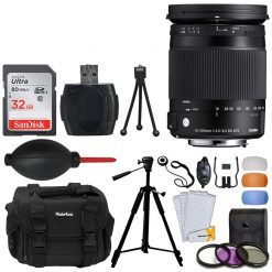 Sigma 18-300mm f/3.5-6.3 DC MACRO OS HSM Contemporary Lens for Canon EF + Case