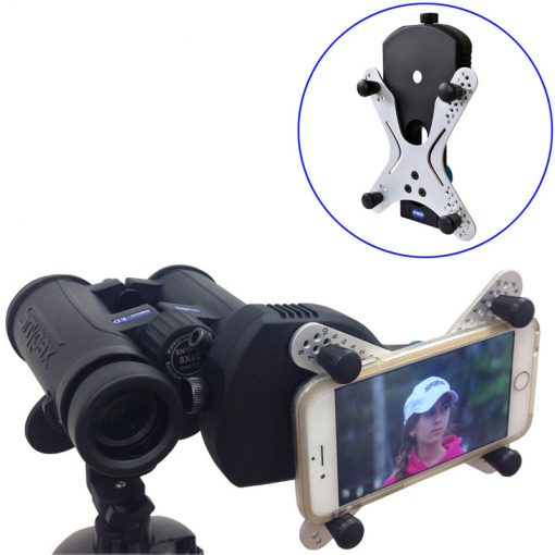 Snypex X-Wing SPA1 Universal Smartphone Adapter for Digiscoping Through Binoculars Spotting Scopes Also Digiscopes, Telescopes & Microscopes Comes with Case