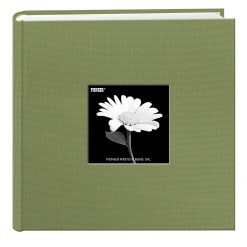 Pioneer 9X9 Cloth Photo Album For 4x6 Photos Holds 200 Pictures Sage Green