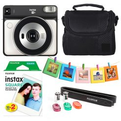 Fujifilm instax SQUARE SQ6 Instant Film Camera (Pearl White) Kit