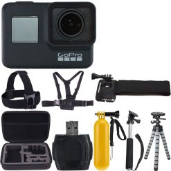GoPro HERO7 Black-Waterproof Action Camera with Touch Screen, Full Accessory Kit