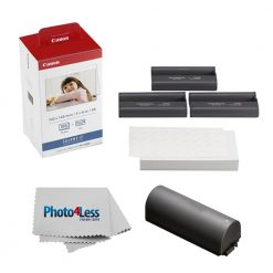 Canon KP-108IN Color Ink And Paper Set + Battery + Cleaning Cloth Great Kit