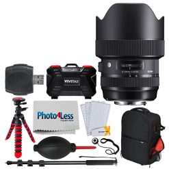 Sigma 14-24mm f/2.8 DG HSM Art Lens for Nikon F + Tripod + Monopod + Backpack