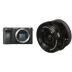 Sony Alpha a6500 Mirrorless Digital Camera with Sony 16-50mm Power Zoom Lens