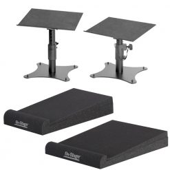 On Stage SMS4500-P Desktop Monitor Stands (pair) + Medium and Small Speaker Platform