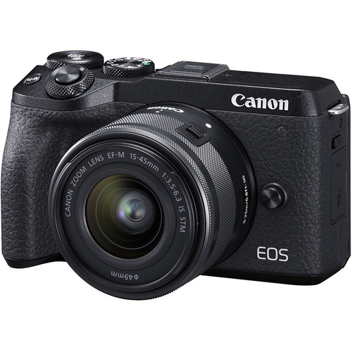Canon EOS M6 Mark II Mirrorless Digital Camera with 15-45mm Lens and EVF-DC2 Viewfinder (Black)