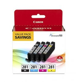 Canon CLI-281 BKCMY 4-Color Ink Tank Value Pack
