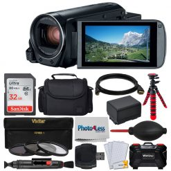 Canon VIXIA HF R80 Camcorder + 32GB Card + Extra Battery + UV Filters + Case