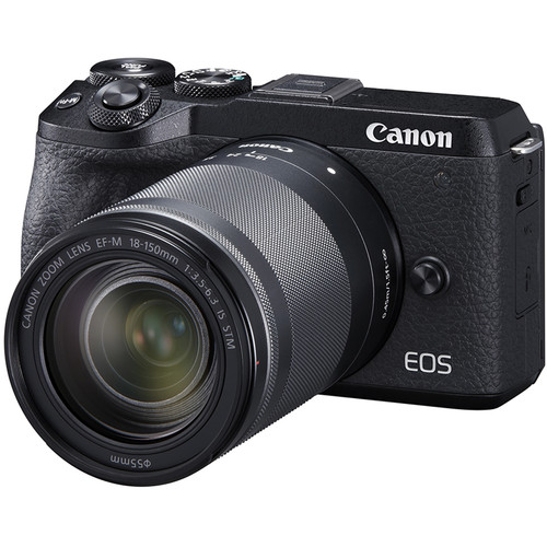 Canon EOS M6 Mark II Mirrorless Digital Camera with 18-150mm Lens and EVF-DC2 Viewfinder (Black)