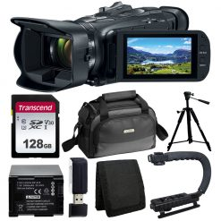 Canon Vixia HF G50 UHD 4K Camcorder (Black) + 128GB Card + SC-A80 Case + Battery