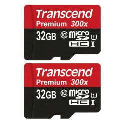 Transcend 32GB MicroSDHC Class10 UHS-1 Memory Card with Adapter 45 MB/s (TS32GUSDU1)