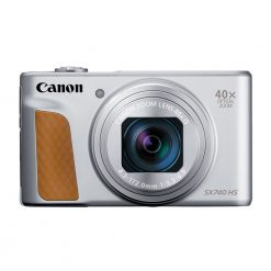 Canon PowerShot SX740 Digital Camera w/40x Optical Zoom & 3 Inch Tilt LCD - 4K VIdeo, Wi-Fi, NFC, Bluetooth Enabled (Silver)