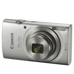 Canon PowerShot ELPH 180 Digital Camera (Silver) with 20.0 MP CCD Sensor and 8x Optical Zoom