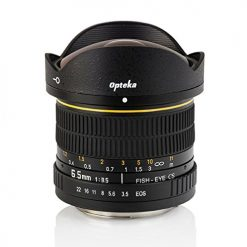 Opteka 6.5mm f3.5 HD Aspherical Fisheye Lens with Removable Hood for Nikon D4S, DF, D4, D3X, D810, D800, D750, D610, D600, D7200, D7100, D5500, D5300, D5200, D5100, D3300 and D3200 Digital SLR Cameras