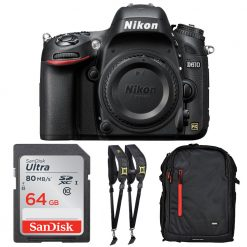 Nikon D610 24.3MP DSLR FX Format Camera Body +Backpack 64gb Top Accessory Bundle