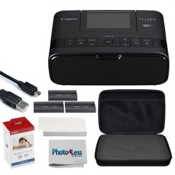 Canon SELPHY CP1300 Compact Photo Printer (Black) + Paper & Ink Set + More!