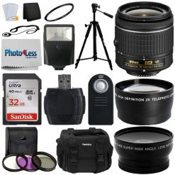 Nikon 18-55 mm f/3.5-5.6G VR AF-P DX Nikkor Lens + Top Value Accessory Bundle!