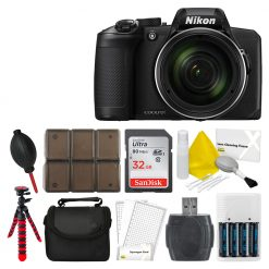 Nikon COOLPIX B600 Digital Camera (Black) + 32GB Top Vaue Accessories Bundle