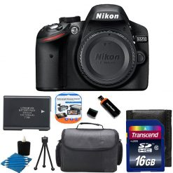Nikon D3200 24MP CMOS Digital SLR Camera + Extra Battery +16GB Top Kit Brand New