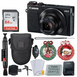 Canon PowerShot G9 X Mark II Digital Camera (Black) + 64GB Card + Holiday Frames