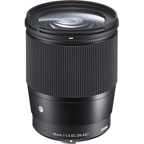 Sigma 16mm f/1.4 DC DN Contemporary Lens for Sony E - Top Value Accessory Bundle