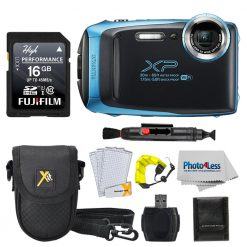 FujiFilm XP140 SKY BLUE Bundle W/ SD Card