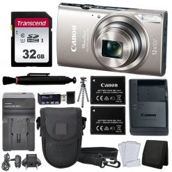 Canon PowerShot ELPH 360 HS Digital Camera (Silver) + Top Value Accessories!