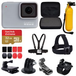 GoPro HERO7 White Waterproof Sports Action Camera Kit + Top Value Accessories!
