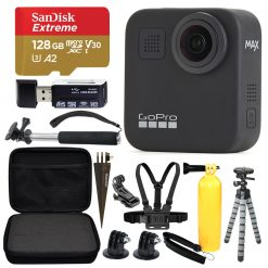 GoPro MAX 360 Sports Action Camera + SanDisk Extreme 128GB microSDXC + Top Value Bundle!