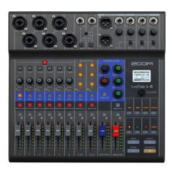 Zoom LiveTrak L-8 Portable Digital Mixer, Multitrack Recorder