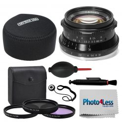 7Artisans 35mm F1.2 Lens for Canon EF-M Mount + Case, Filter Kit + Accessories
