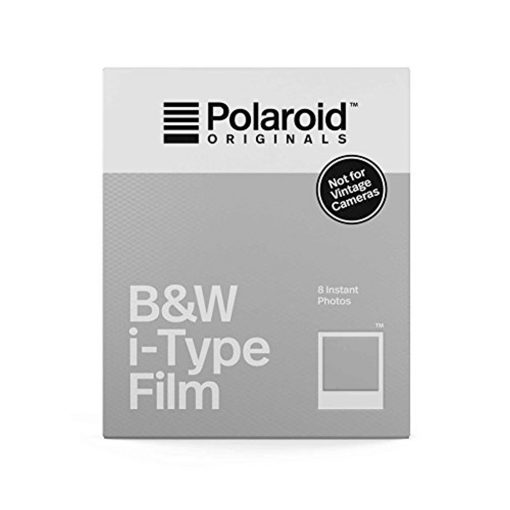 Polaroid Originals Instant Film Black & White Film for I-TYPE, White (4669) 8 Exposures