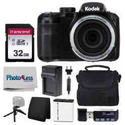 Kodak PIXPRO AZ421 Digital Camera (Black) Bundle with SD Card, Case, & More!