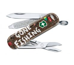"""Victorinox SwissArmy Classic SD Pocket Knife Sports of the World - Limited Edition 2020 """"Gone Fishing"""""""