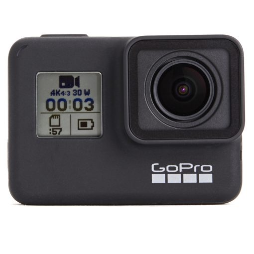 GoPro HERO7 Black Waterproof Action Camera + 32GB Card + Medium Case + Monopod