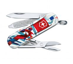 """Victorinox Swiss Army Classic SD Pocket Knife Sports of the World - Limited Edition 2020 """"Ski Race"""""""