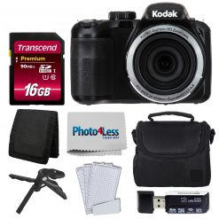 Kodak PIXPRO AZ421 Digital Camera (Black) Bundle + 16GB Memory SD Card + Case
