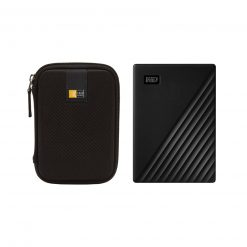 WD 4TB My Passport Portable External Hard Drive, Black + Case