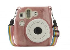 Ideal Accessories Hard Glitter Case for Fui Instax Mini 8/9 Flamingo Pink