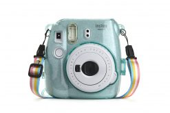 Ideal Accessories Hard Glitter Case for Fui Instax Mini 8/9 Ice Blue