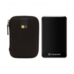Transcend 2TB StoreJet 25C3 USB 3.0 External Hard Drive (Black) + Case