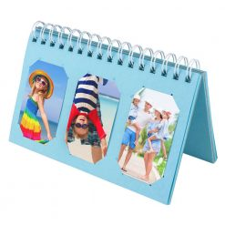 Xit Scrapbooking Album For Fuji Instax Photos Holds 60 Prints Light Blue XTFA60LBL