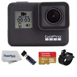 GoPro HERO7 Black 4K UHD Video Sports Action Camera + Top Value Accessories!
