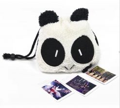 Caiul Panda Pattern Bag for Camera- Black/White
