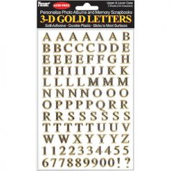 Pioneer Photo Albums 3D Gold Letters Stickers