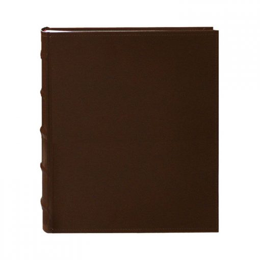 Pioneer Photo Albums 200-Pocket European Bonded Leather Photo Album for 4 by 6-Inch Prints, Brown