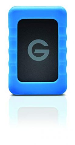 G-Technology 4TB G-DRIVE ev Raw Portable External Hard Drive with Removable Protective Rubber Bumper - USB 3.0 - 0G06020