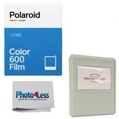 Polaroid Color Film for 600 Double pack (16 Film Sheets) | Grey Album | Cloth