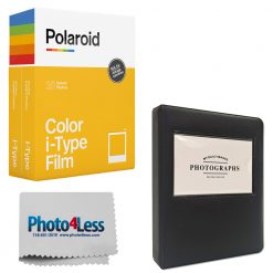 Polaroid Color Film for i-Type - Double Pack + Black Leather Album + Cloth